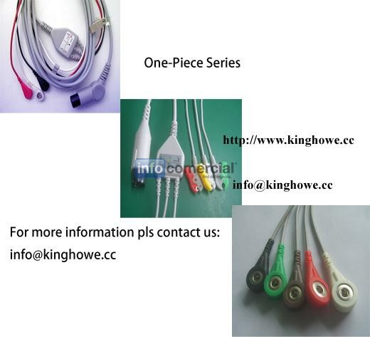 ECG cable for one piece