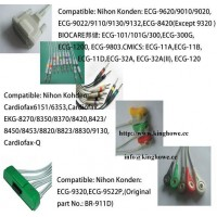 EKG cable for Nihon Kondon ,DONGJIAN,BIOCARE