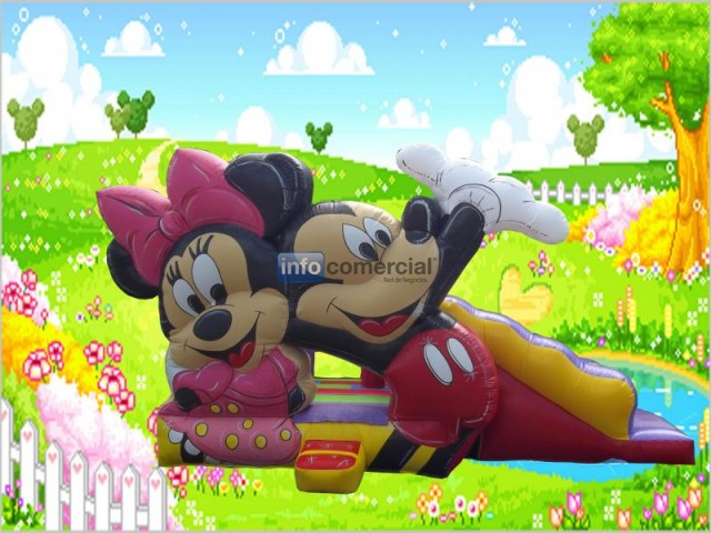 CASTILLO INFLABLE MICKEY Y MINNIE