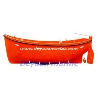 Open type free fall life boat