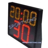 Basketball shot clock and game period time