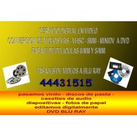 CONVERSION DE DISCOS DE PASTA O VINILO LONG PLAY A cd o DVD, - AVERIGUE SIN COMPROMISO, SR FERNANDO