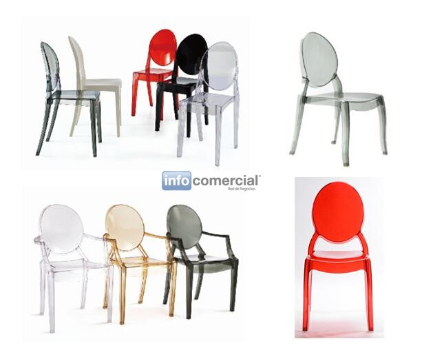 Silla louis ghost transparente para eventos y catering