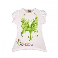 T-Shirt 100% cotton handpainted ecofriendly social responsable