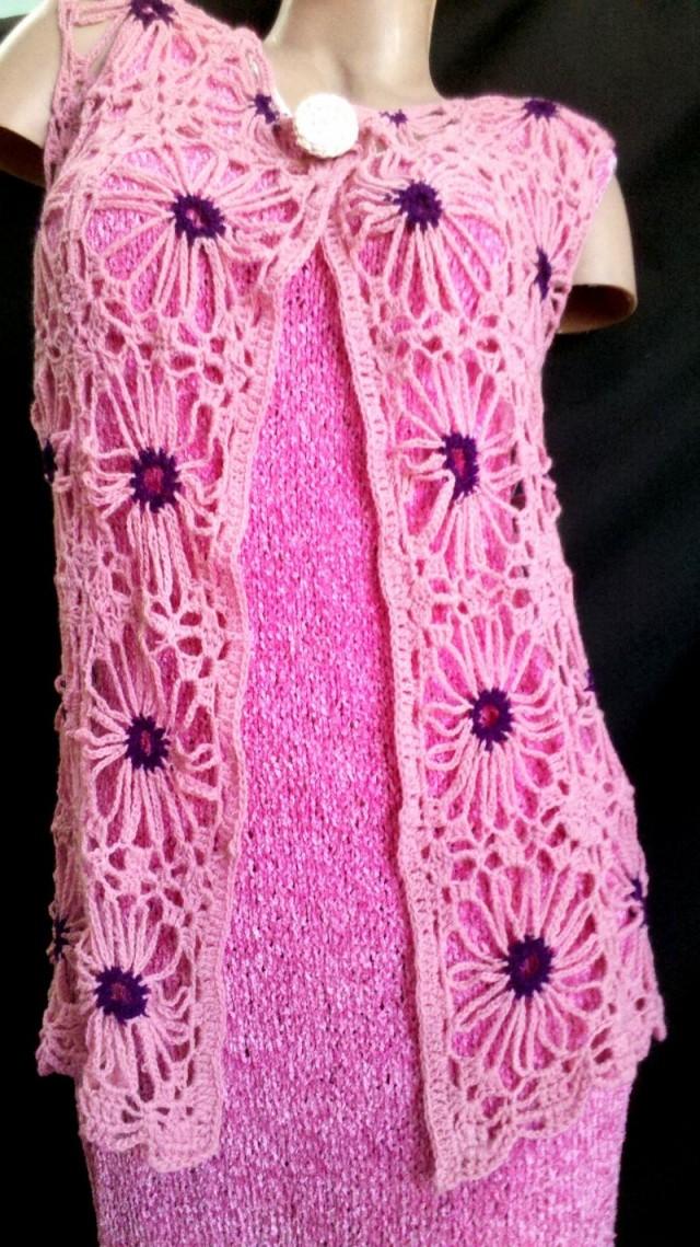 tejidos en crochet en hilo con lycra chalecos y sacos tejidos en
